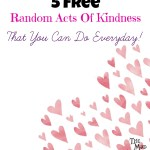 5 Free Random Acts Of Kindness That You Can Do Everyday!