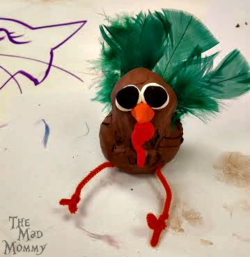 Clay turkey my son made at KidCreate Studio in Eden Prairie, MN.