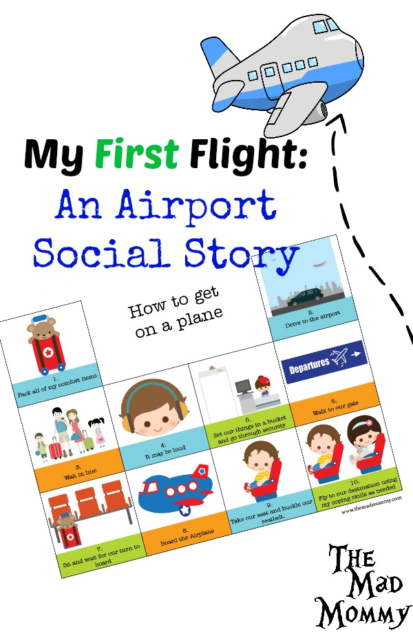 Kids with sensory issues can have a hard time in crowded, loud places where they have no control. One of the ways that we got him ready was with an airport social story.