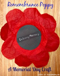 Remembrance Poppy: A Memorial Day Craft