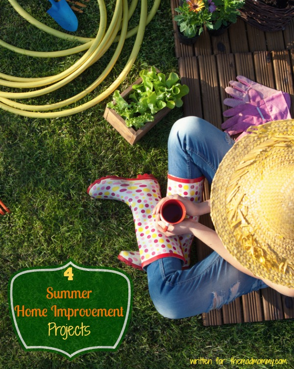Summer is the perfect time to embark on a home improvement project. Far be it from me to tell you which project is most important for your house, but here are a few ideas. All of the following are summer projects that I've taken on in the past, or ones that I'm planning for this year.