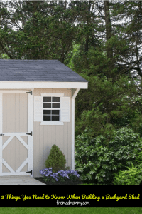 3 Things You Need to Know When Building a Backyard Shed