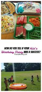 How Do You Tell If Your Kid's Birthday Party Was A Success?