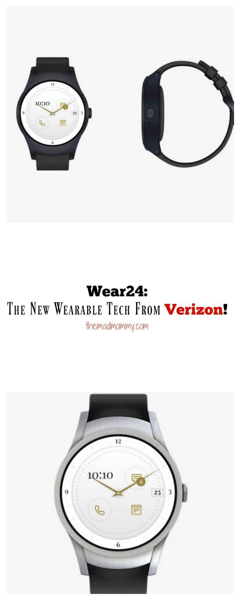 The Wear24 Smartwatch is a Verizon Exclusive product and runs with Android 2.0 products. It comes pre-loaded with a few helpful apps including Find My Phone, Agenda, Fit and HomeGoogle/Together.