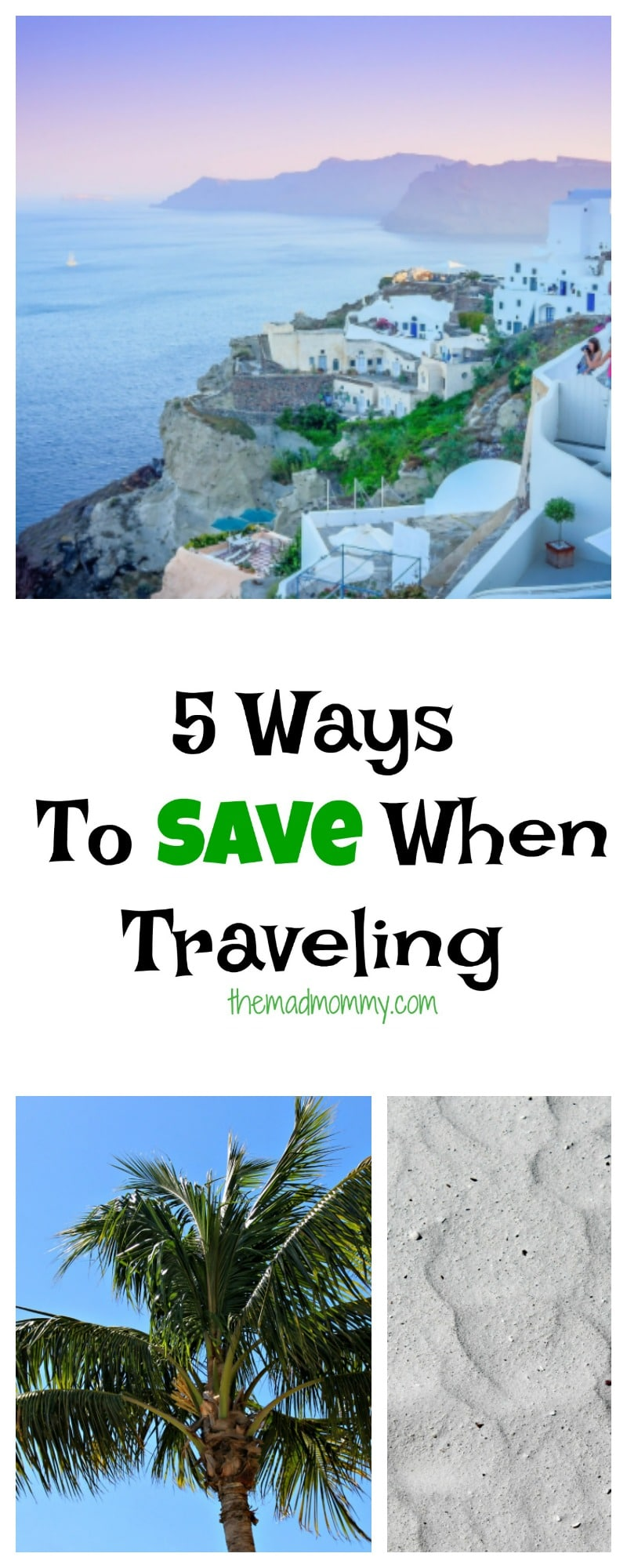 You can pinch pennies at every corner and save a ton, or you can take the other route and splurge and spend thousands. Here are just a few ways to save when traveling: