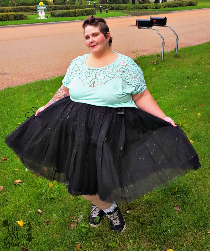 My outfit for my Verizon VIP Experience at the Lady Gaga concert, which included my Society+ Tutu!