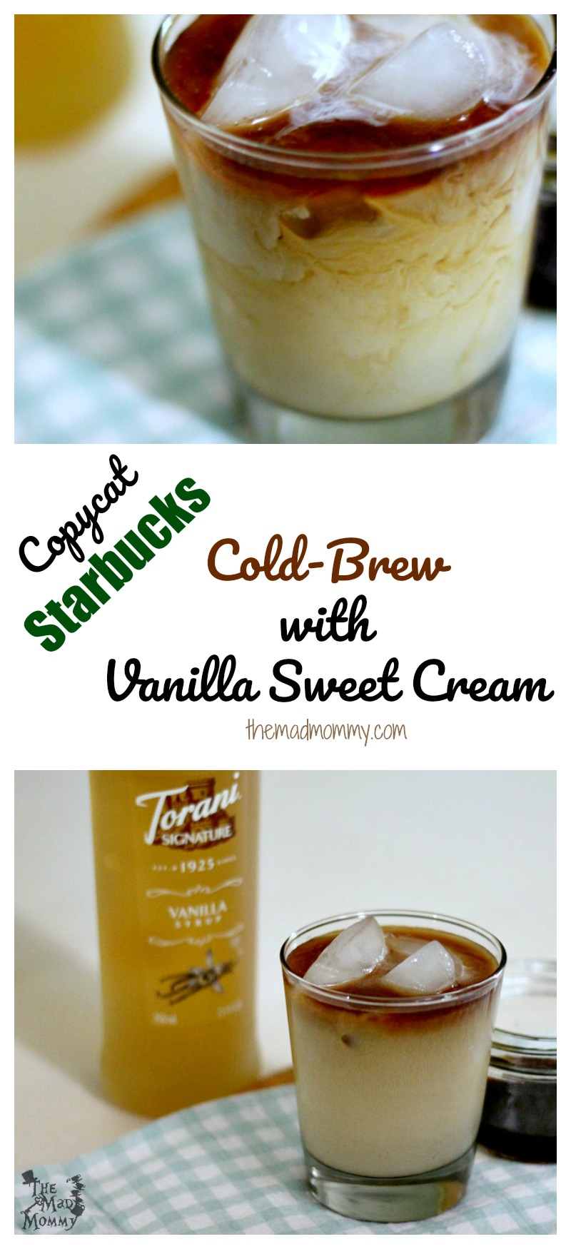 This Copycat Starbucks Cold-Brew with Vanilla Sweet Cream is simple to make and even easier to enjoy! I love being able to have a glass whenever I like!