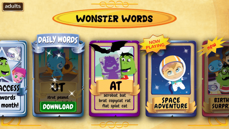 It is always free to download and they offer a free downloadable word pack per day on the Wonster Words app for kids.