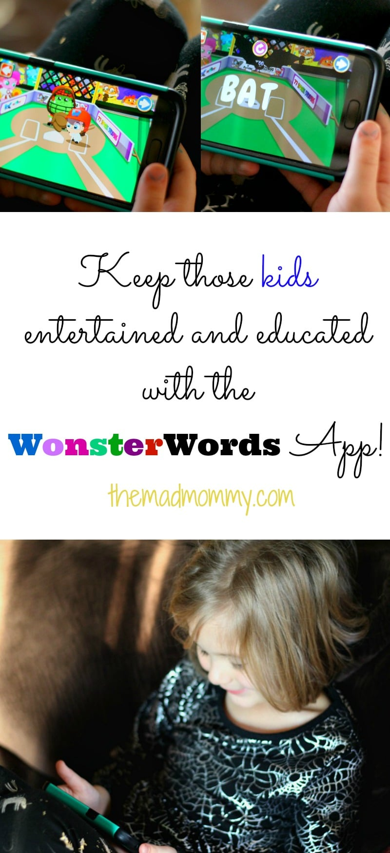 I teamed up with a great app for kids! It is called Wonster Words and it can definitely help you keep those kids entertained, educated and possibly, out of your hair for a few minutes!