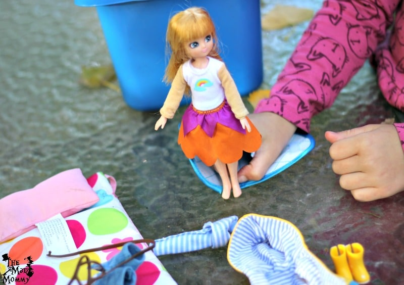 We loved the fact that her Lottie Doll fit into most of her other dolls clothing.