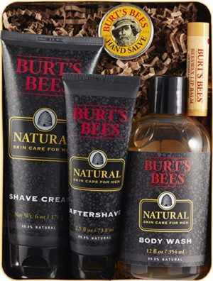 Men need to take care of themselves too, but often won't ask for something like a Burt's Bees Gift Set, even if they want one.
