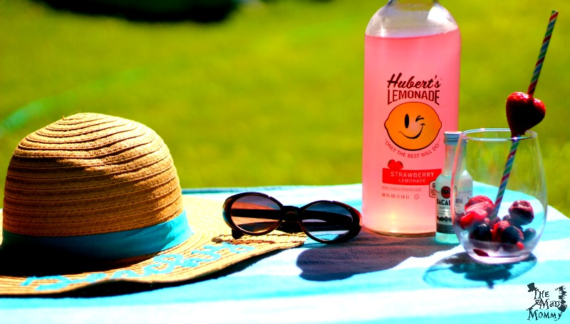 Here are the ingredients for my delicious summer cocktail and, imagining yourself on a quiet beach. Instead of being in a hot backyard, with loud kids and an inflatable pool.