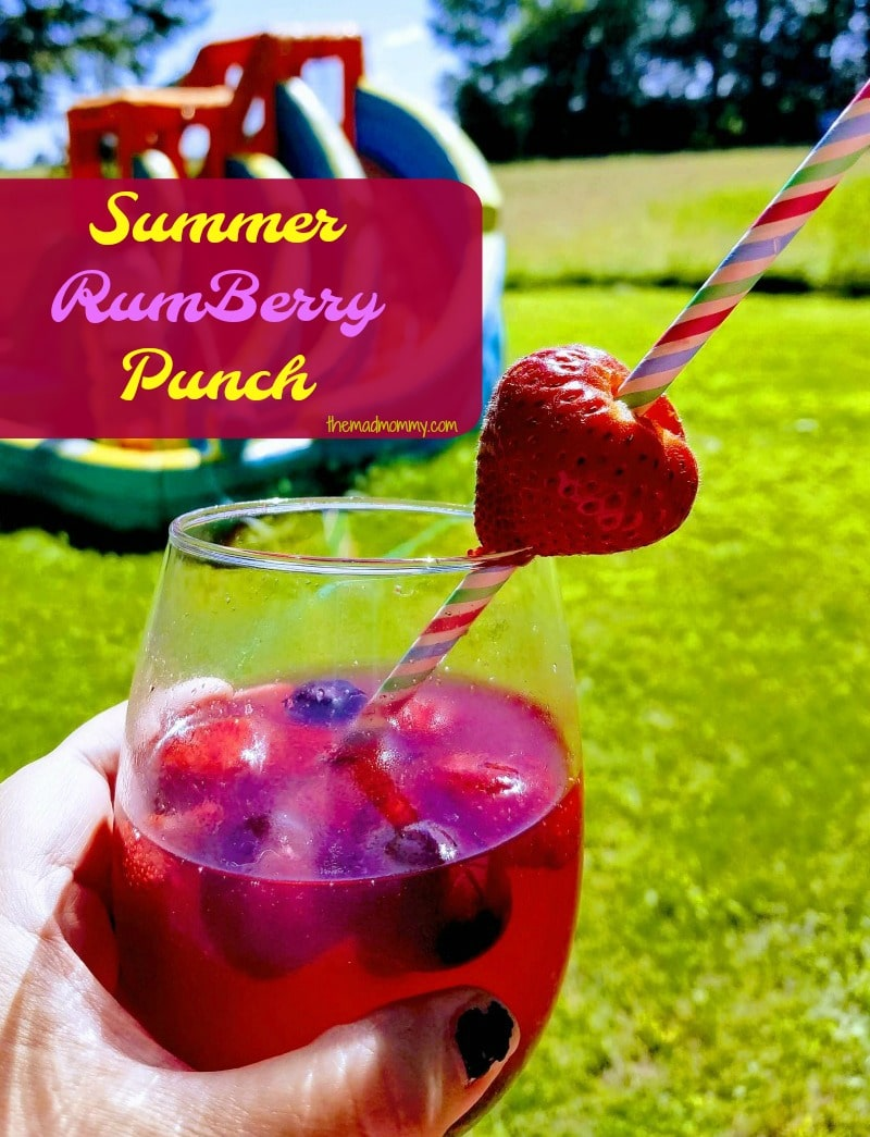 This delicious summer cocktail might whisk you away to an imaginary beach, or it could quiet the summer roar of your loud children for a moment!