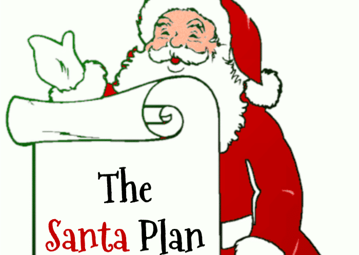 The Santa Plan is always the perfect way to explain to your children, why some kids get some much and some kids get very little.