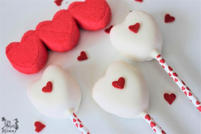 Last Minute Valentine Ideas: Valentine Peep Pops!