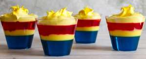Go HIGHER. FURTHER. FASTER! with Captain Marvel, in theaters March 8th 2019 and send your taste-buds out of this world with these Captain Marvel Jello Cups!