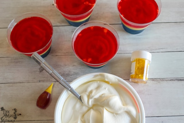 These Captain Marvel Jello Cups take a little more prep-time than my usual recipes, but the EXPLOSION of flavors is totally worth it!