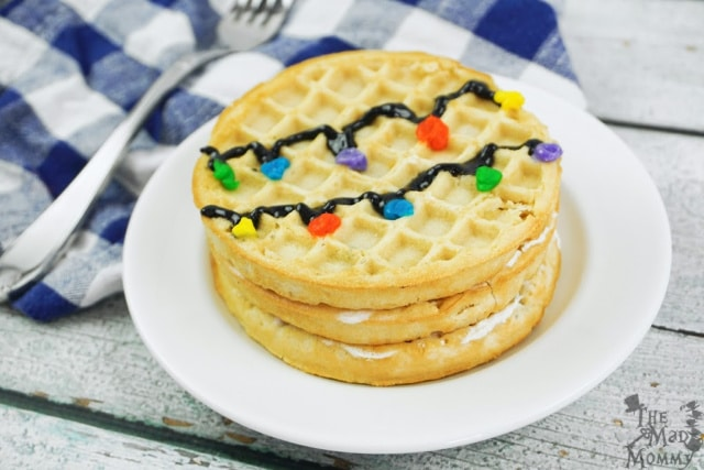 There you have it. Your simple, yet oddly beautiful Stranger Things inspired waffle cake. Do you think Eleven would approve?