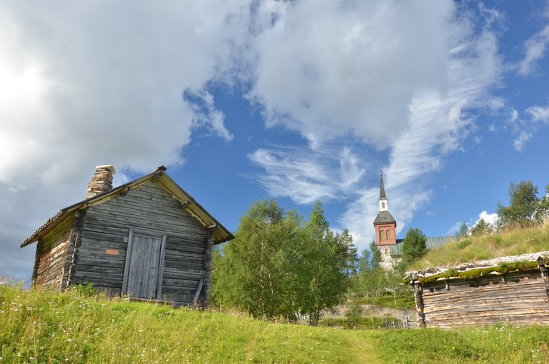 utsjoki-church-village