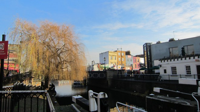 If you enjoy travelling on canals you can get a boat from here down to nearby Camden market, from around nine pounds.