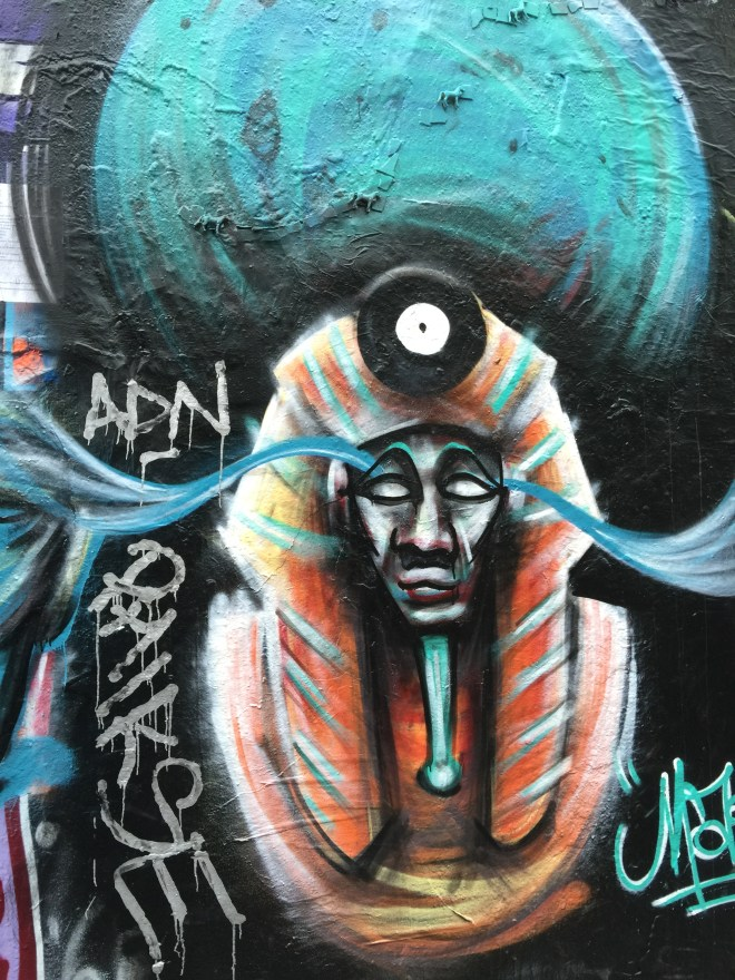When I went back the next day this was being painted over by a (female) graffiti-ist.