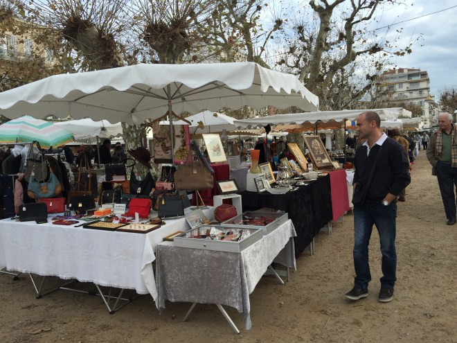 The flea market.  You just know that the designer bags for sale here are not the usual market stall fakes.