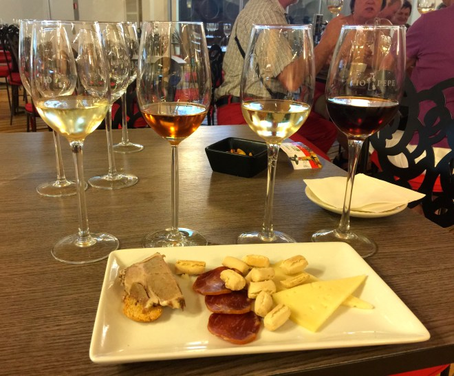 Sherry tasting at the Tio Pepe bodega