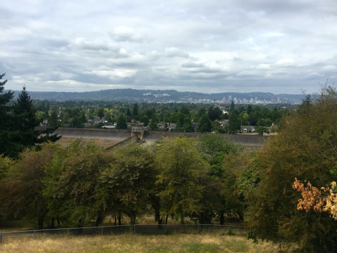 View over Portland from Mt Tabor Park