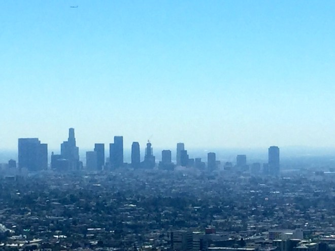 Great view over LA from the Griffith Park Observatory