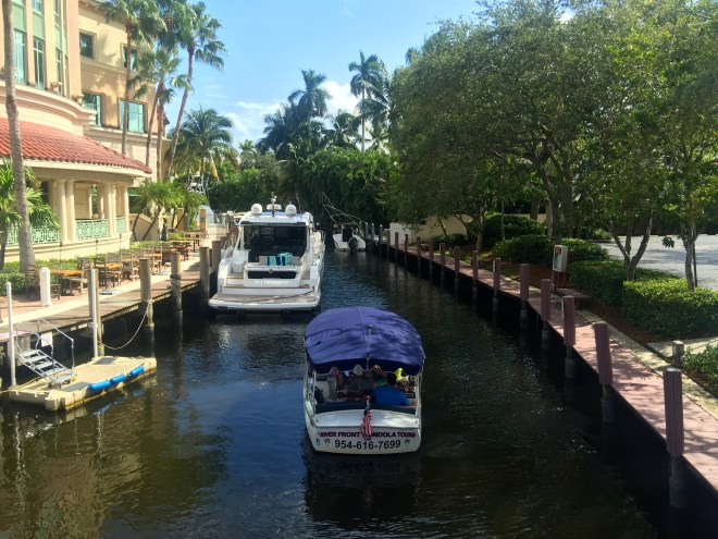 Now in Fort Lauderdale. Here is one of the city's many canals
