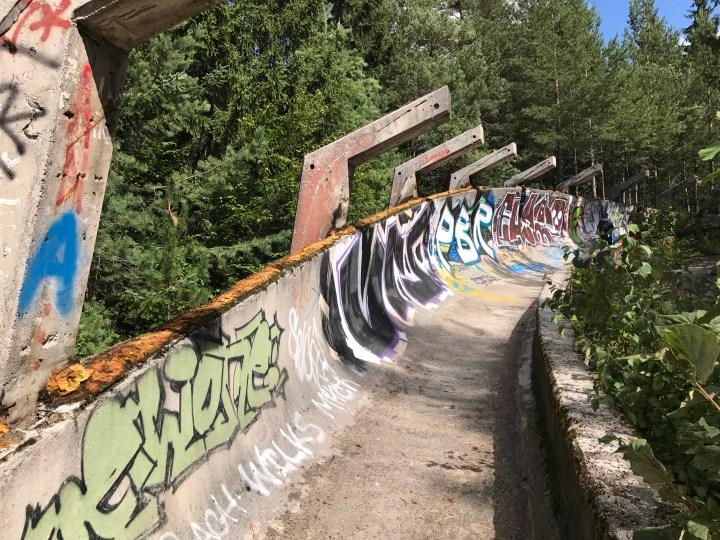 abandoned bobsleigh run Sarajevo