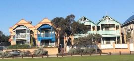 houses opposite the beach