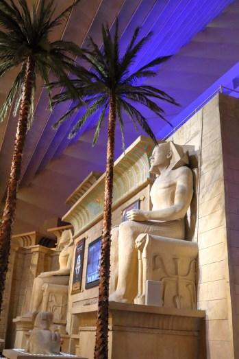 Inside the Luxor pyramid