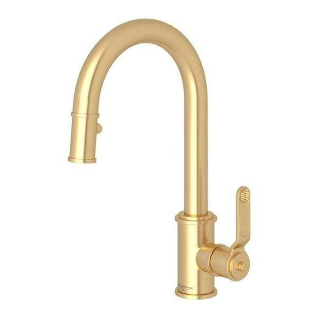 perrin rowe armstrong pull down bar food prep faucet with lever