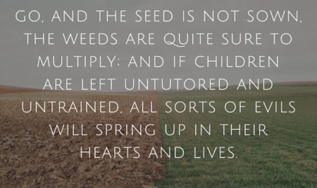 training teaching children Spurgeon quote