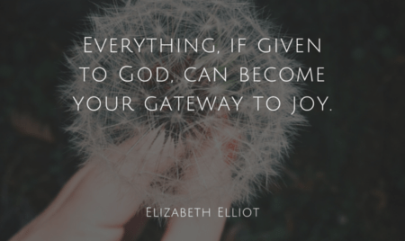 give to God for joy