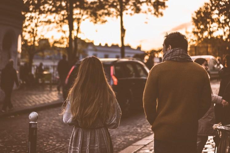 evangelism post election guy girl walking talking image