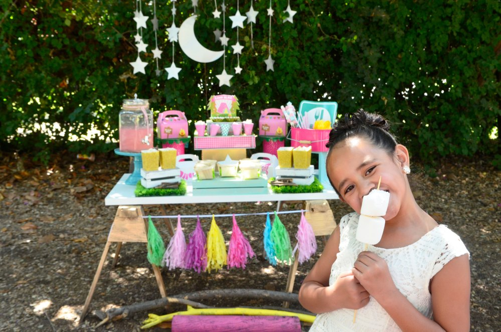 "A DIY Girly ""Glam Camp"" Out Party!"