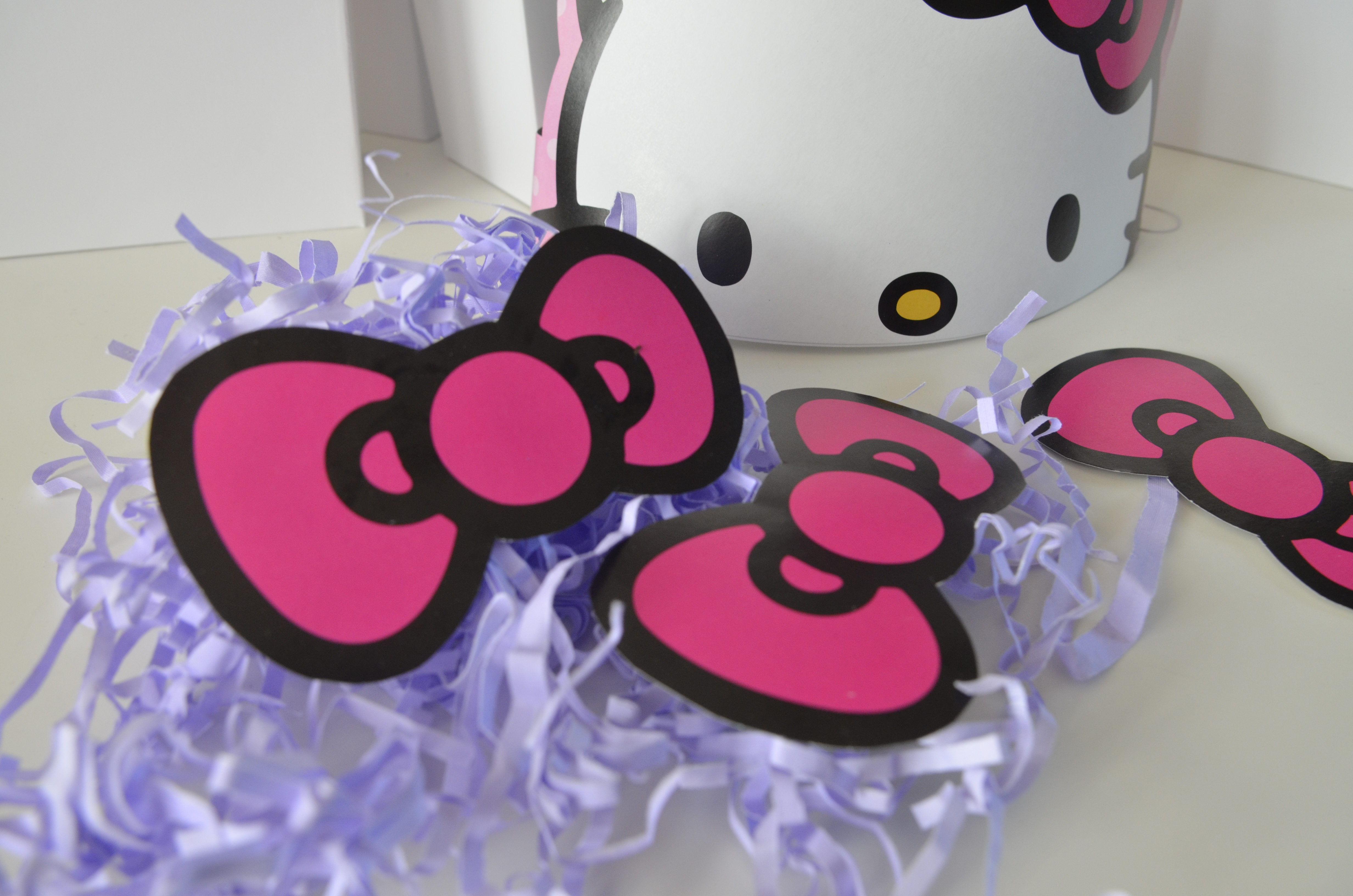 hello kitty party favors diy party city easy pink bow