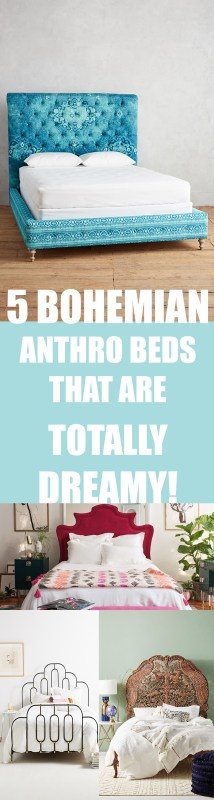 bohemian rustic family home apartment decor ideas diys furniture bed headboard anthropologie the makeover mom blog pinterest