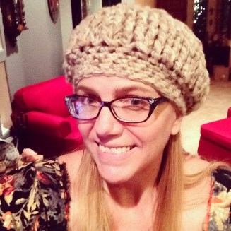 Me in my crocheted hat