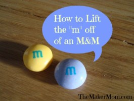 """How to Lift the """"m"""" off of an M&M"""