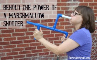 The Maker Mom discusses marshmallow shooters as a gateway to Making and STEM