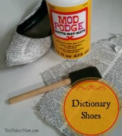 Word on the Street: Decoupage Dictionary Shoes