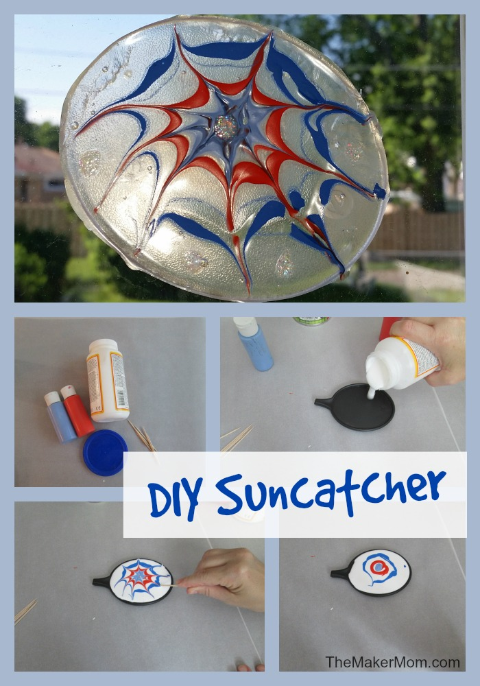 Easy DIY Suncatcher at www.TheMakerMom.com.