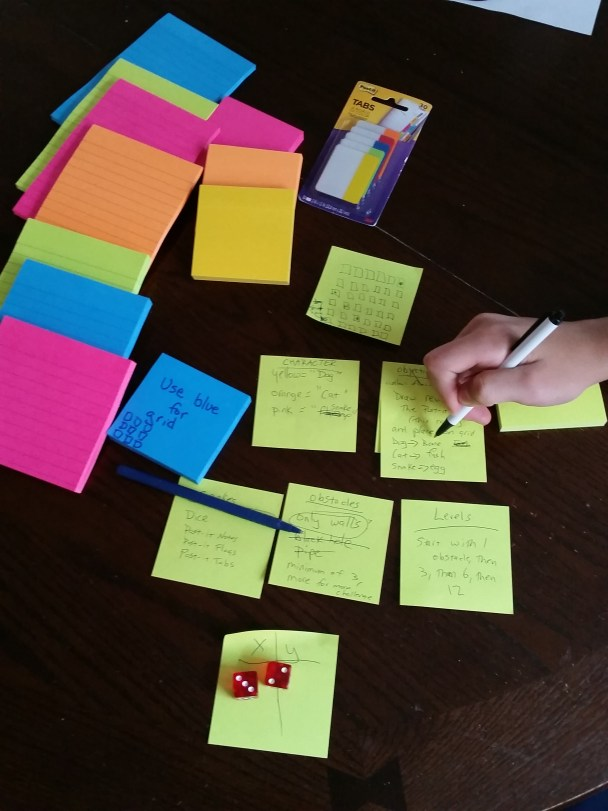 Using Post-it Notes to brainstorm and plan a project on www.TheMakerMom.com