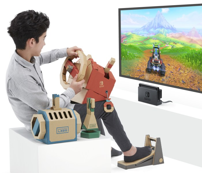 Nintendo Labo vehicle Kit lets you drive, fly, and dive through virtual worlds.