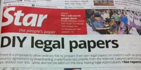 No really, the front page headline of The Star!