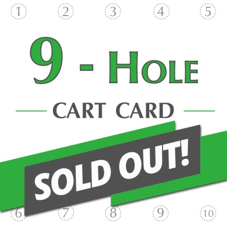 9-Hole Cart Card Sold Out