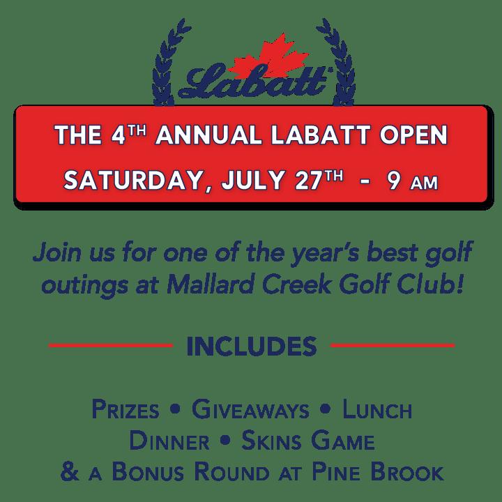 4th Annual Labatt Open